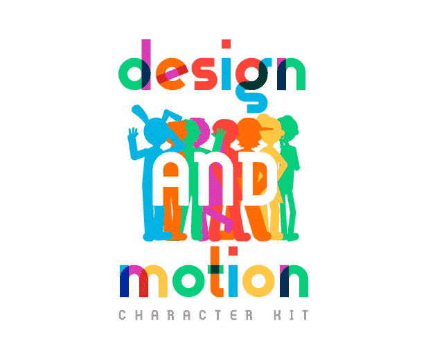 Design and Motion Character Kit After Effects Template - Logo.