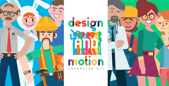 Design and Motion Character Kit After Effects Template - Thumb.
