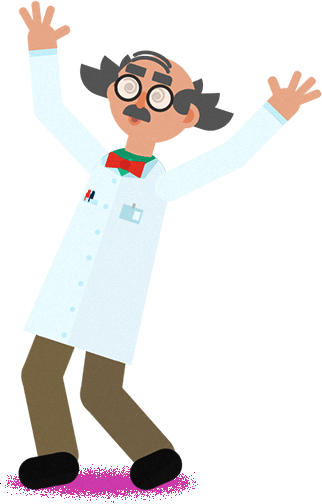 Design and Motion Character Kit After Effects Template - Mad Scientist.
