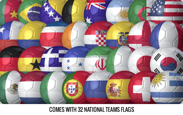 Balls And Flags After Effects Template - 32 National Team Flags.
