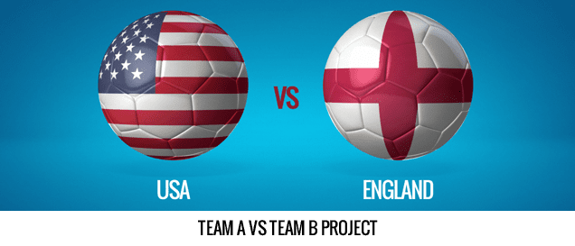 Balls And Flags After Effects Template - Team A vs Team B.