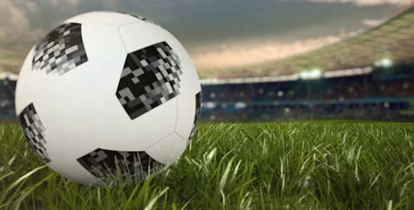 Soccer Ball Rolling Across The Field After Effects Template - Thumb.