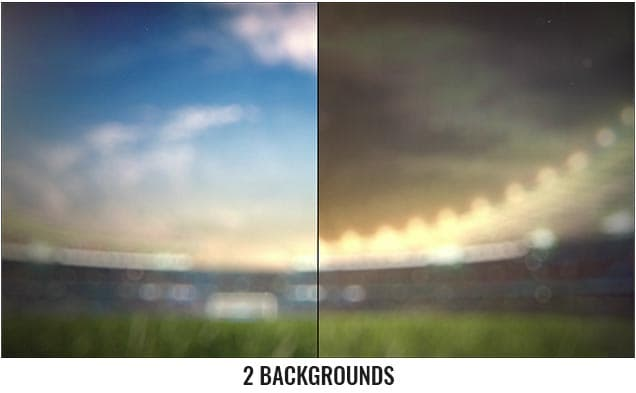 Soccer Ball With Stadium After Effects Template - 2 Backgrounds.