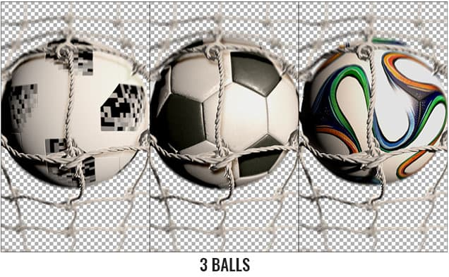 Soccer Ball With Stadium After Effects Template - 3 balls.
