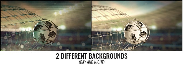 Soccer Scoring Logo Reveal After Effects Template - 2 backgrounds.