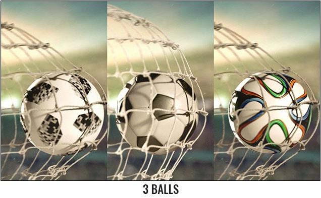 Soccer Scoring Logo Reveal After Effects Template - 3 Balls.