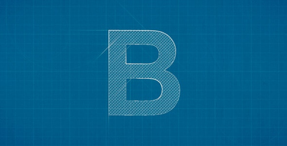 Blueprint Logo Reveal After Effects Template - Thumb.