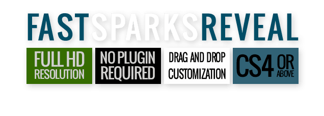 Fast Sparks Logo Reveal After Effects Template - Features.