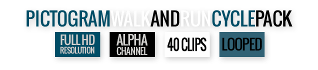Pictogram Walk And Run Cycle Motion Graphics Element - Features