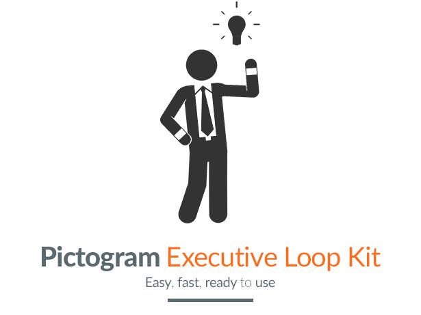 Pictogram Executive Loop Kit Motion Graphics Element - Title image