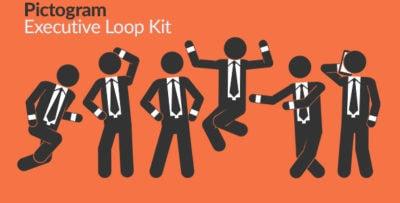 Pictogram Executive Loop Kit Image Motion Graphics Element - Thumb
