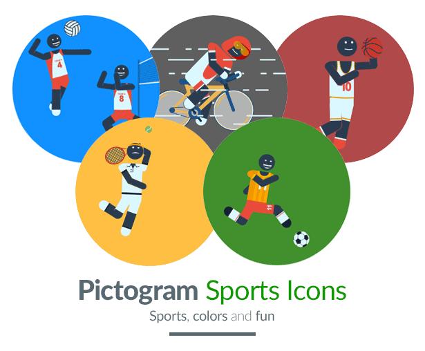 Pictogram Sport Icons Motion Graphics Element - Title image