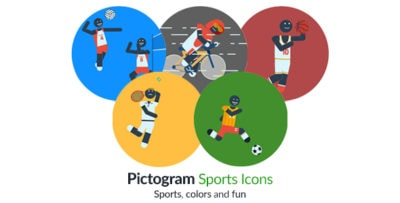 Pictogram Sport Icons Motion Graphics Element - Character animation Thumb